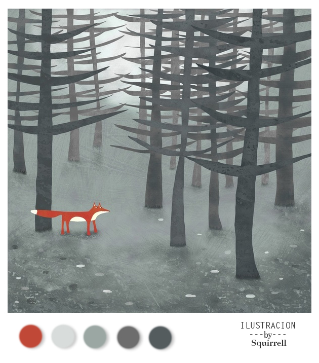 Art Print  The Fox and The Forrest  by  Squirrell