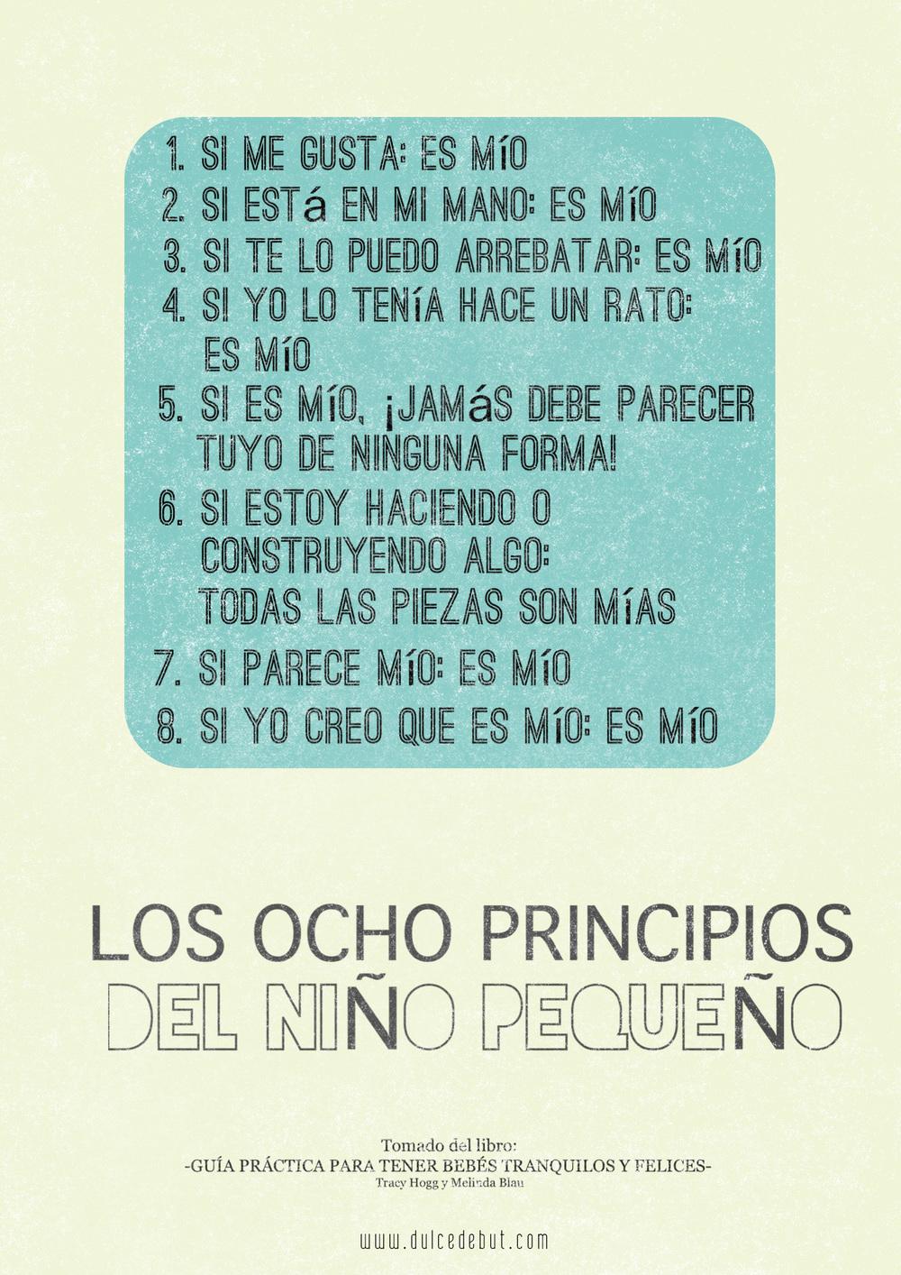 LOS OCHO PRINCIPIOS DEL NIÑO PEQUEÑO