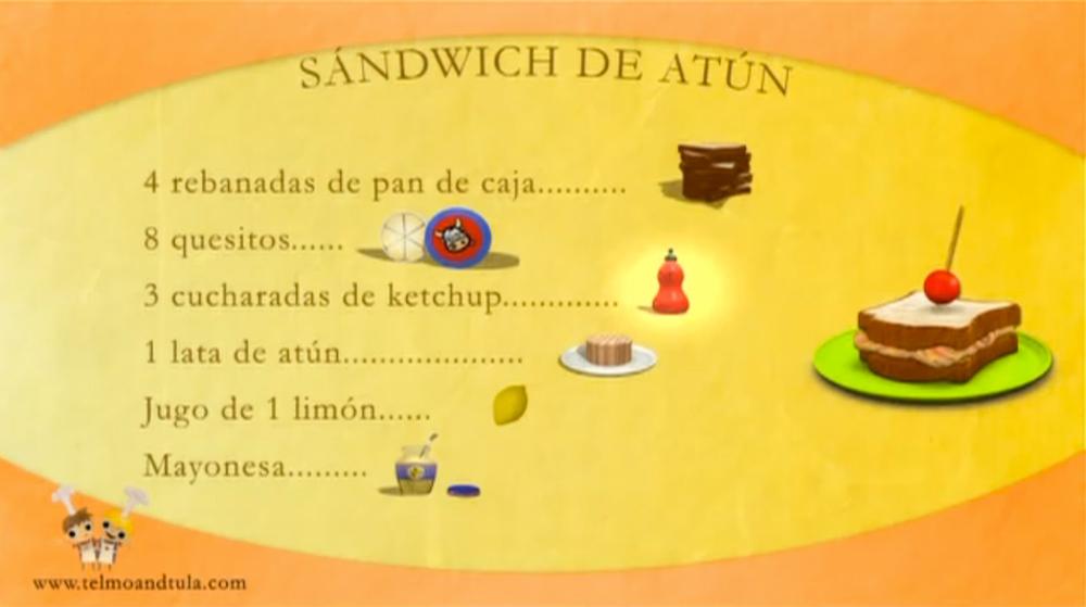 Ingredientes Sandwich de atún - Telmo y Tula