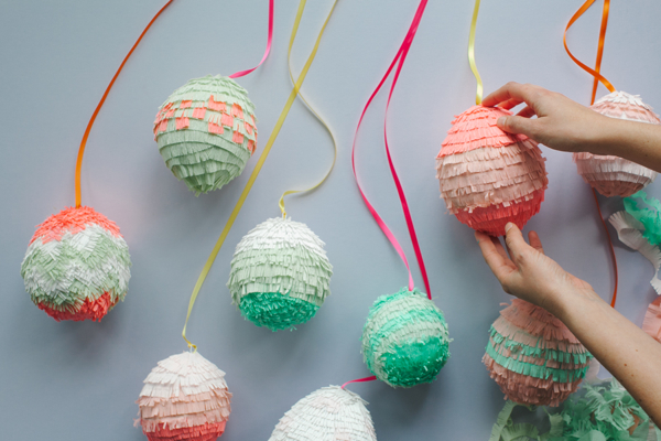 Easter Egg Piñatas DIY by   Oh Happy Day