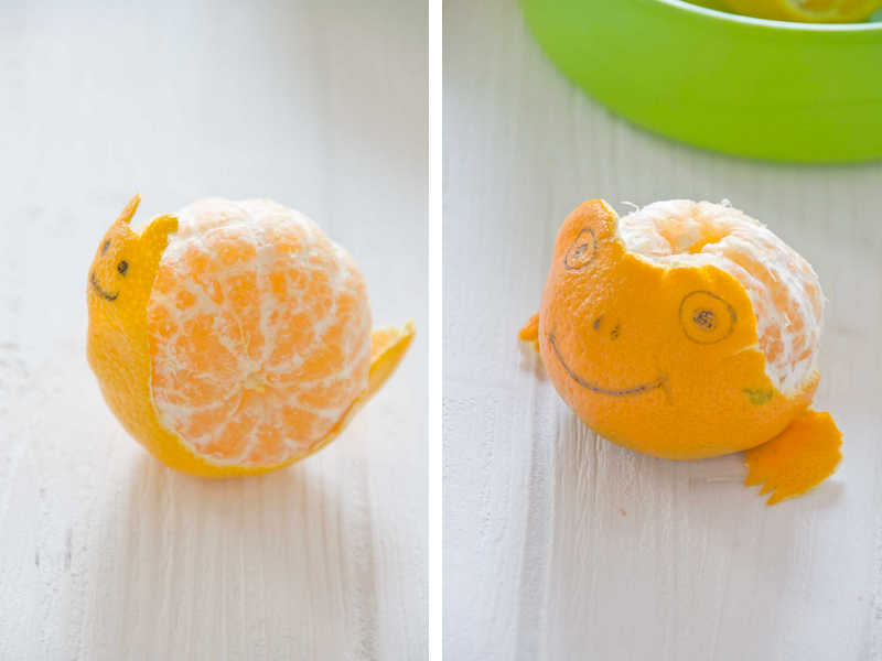 Animalitos de mandarina by Little Cook
