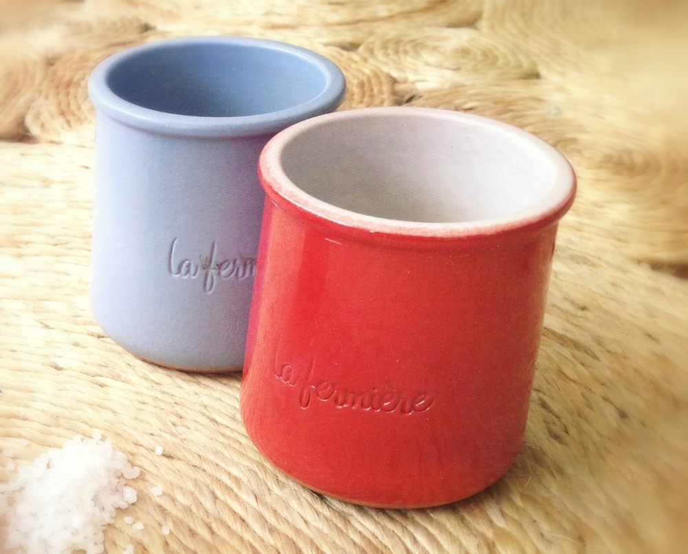 Tarros de cerámica dela Fermière (yoghurt)