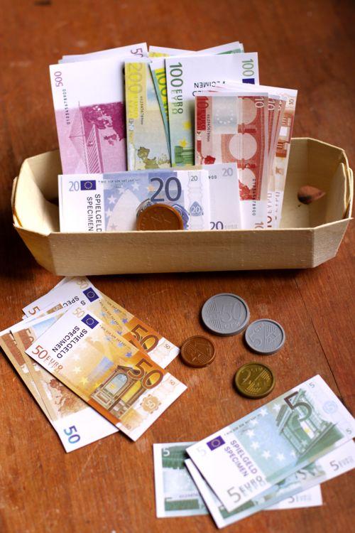 Euros de juguete (Foto:  Design mom )