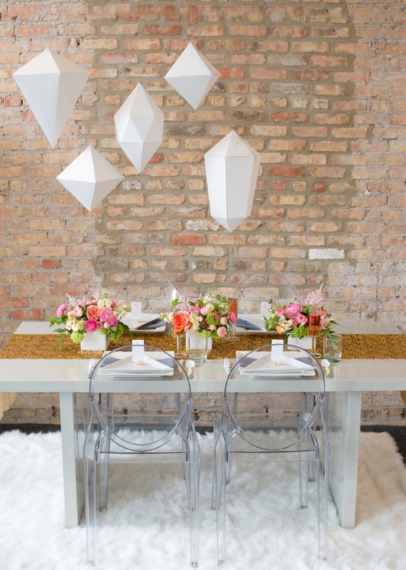 Geometric wedding inspiration  {via  100 Layer Cake }
