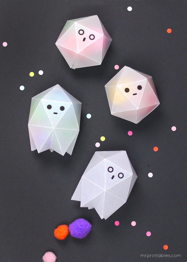 1.  CAJITAS FANTASMA  {vía  MR. PRINTABLES }