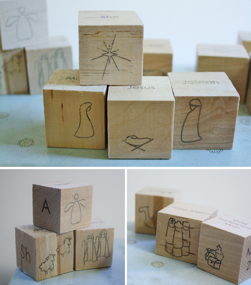 DIY NACIMIENTO EN CUBOS DE MADERA by Yellow Spool