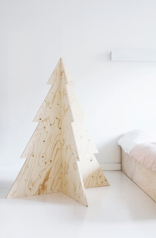 3D Plywood Tree  via apartment therapy
