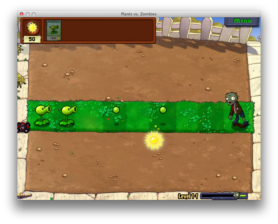 Plants vs. Zombies' first level