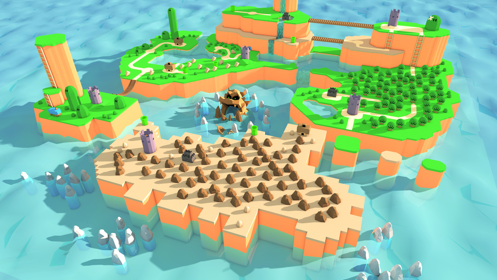I'm working on turning the super mario world map into a low poly 3D map. Final version coming soon!