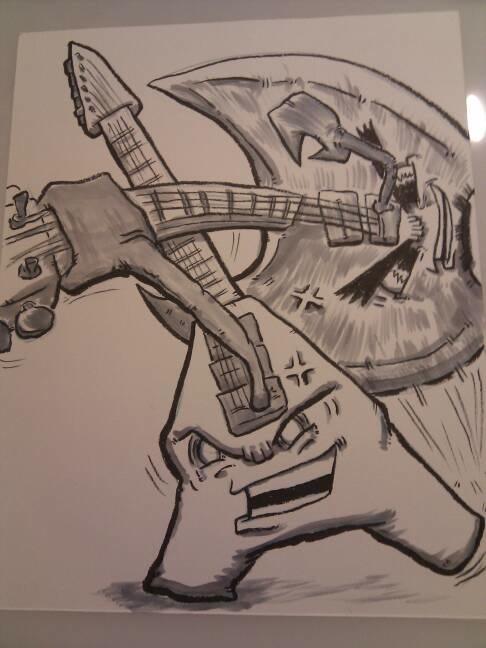 Work in progress pics - Crunchy and Battle Axe Bill!