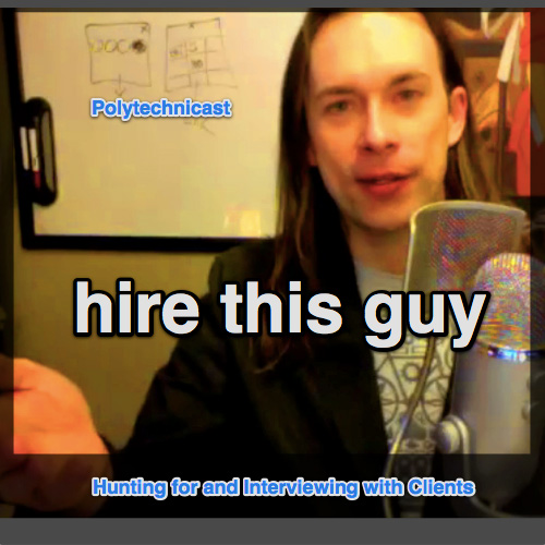 "In this episode of the Polytechnicast I share thoughts on seeking a job doing what I love, serving a community I care about, using tools and methods I believe in, to engage in a fair and sustainable trade. Along the way I share observations on the process of job/contract hunting and some of the tools I find helpful. Links Mentioned Comic - Independent Voice (the first place I published my ""do what I love mantra"") My Illustration Portfolio My Interactive/UI/UX/Game Design Portfolio Prezi - a good tool to rapidly create interesting looking portfolios for online and print. Prezi Portfolio of Sample Work Products (available on request) Rob's Video Application to Lullabot on Vimeo Search tools: Combine Google with Glassdoor Break out of your search bubble via Duck Duck Go Tools I use to manage reusable email sections and templates: NvALT TextExpander Follow Rob on Twitter or his blog at Interactive-Storyteller.com and workshops at Lean Into Art"