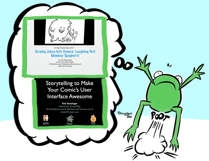 In this episode of the Polytechnicast I reflect on two workshops I presented recently, share a sampler of each, and delve a bit into why I chose those the topics behind each workshop. The titles of the workshops are: Using Storytelling to Make Your Comic User Interface Awesome Turning Jokes into Comics: Laughing Yeti Monkey Spaghetti Links and Resources Mentioned Kids Read Comics Laughing Yeti Monkey Spaghetti Tumblr Site Laffy Taffy Greg Dean's Step By Step Stand-Up Comedy UP! Fair The Design of Everyday Things by Donald Norman