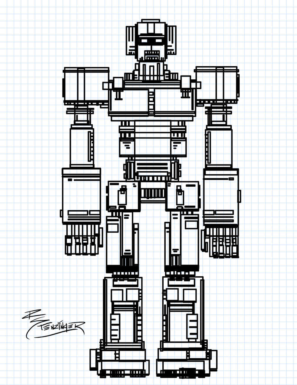 Drawing with Rectangles - Robot Mecha.png