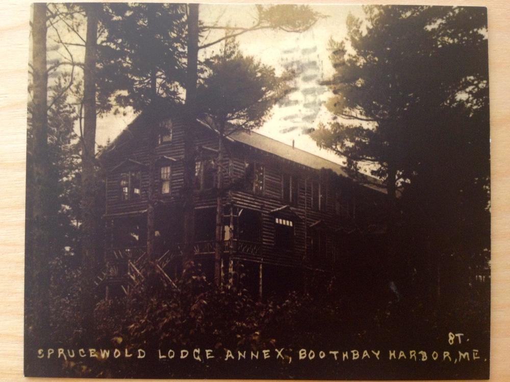 Sprucewold Lodge Vintage Postcard