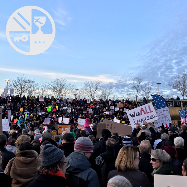 Crowd at the Rally for American Values on January 30, 2017.