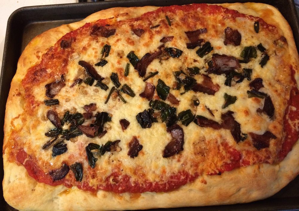 Sautéed Ramp & Bacon Pizza