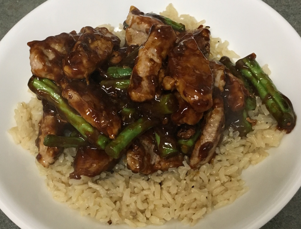Stir Fried Pork with Green Beans and Cashews