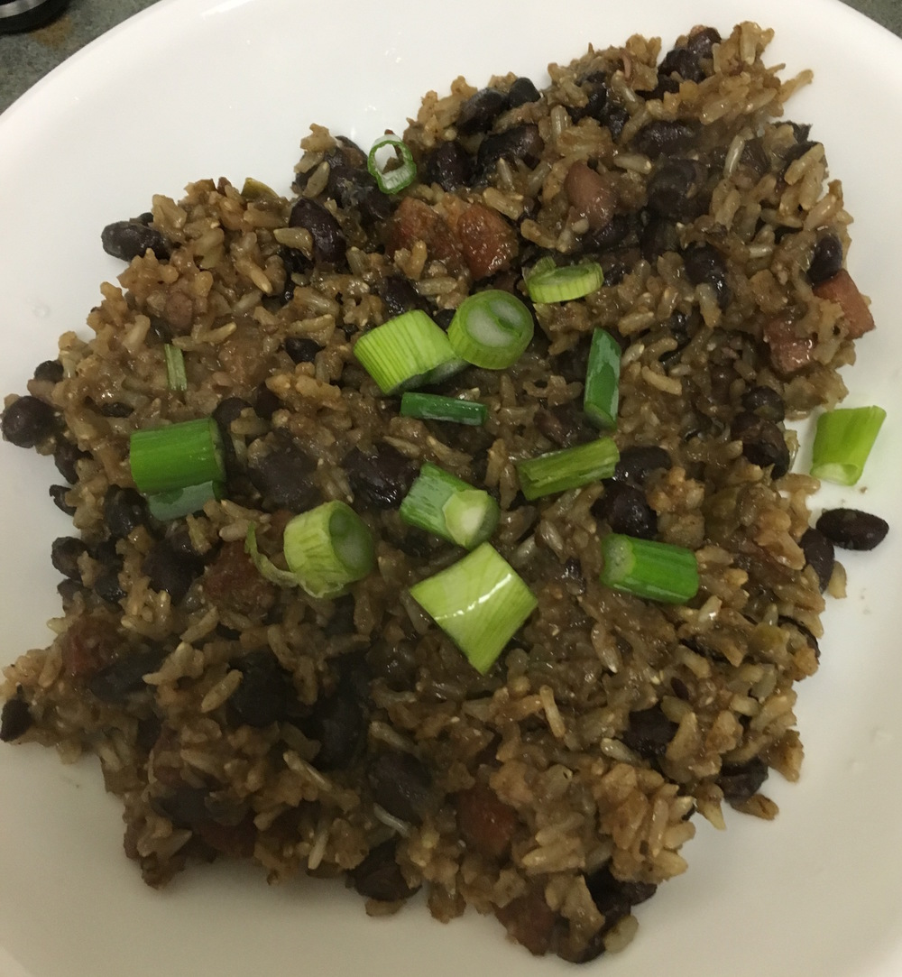 Cuban Style Black Beans and Rice
