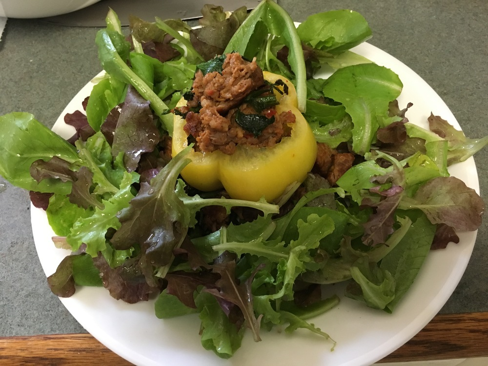 Stuffed Tomato over mixed greens