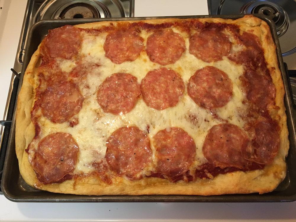 Genoa Salami Pizza