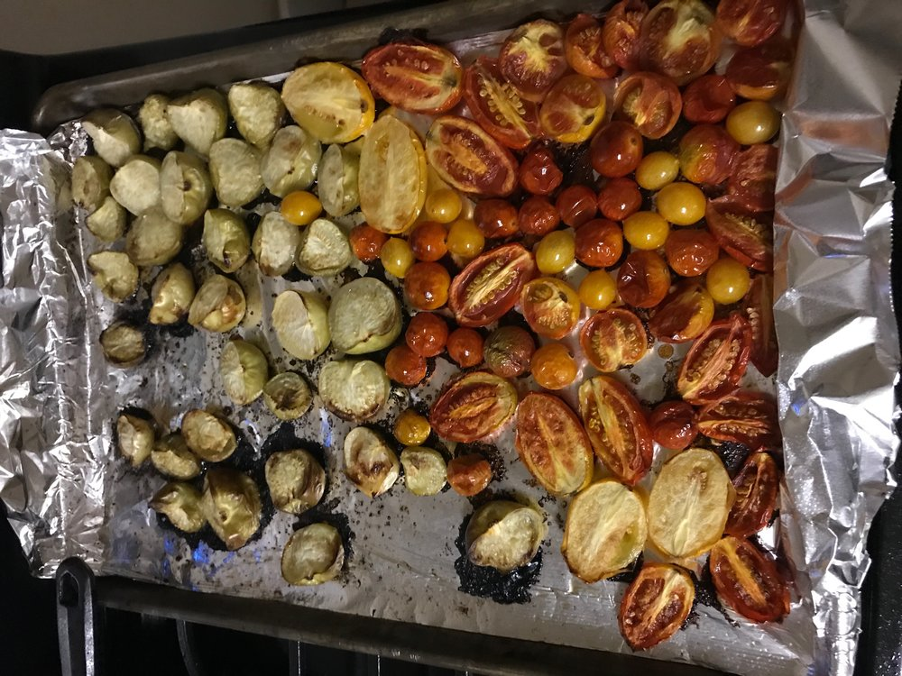 Roasted Tomatoes and Tomatillos