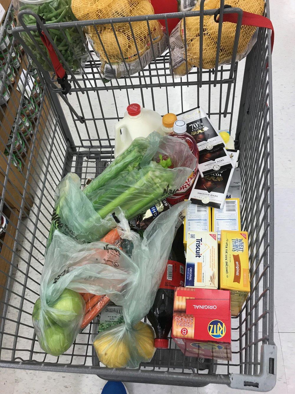 a surprisingly small non-local grocery trip