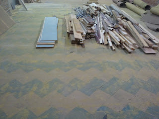 Our subfloor looks like Charlie Brown's t-shirt, right?