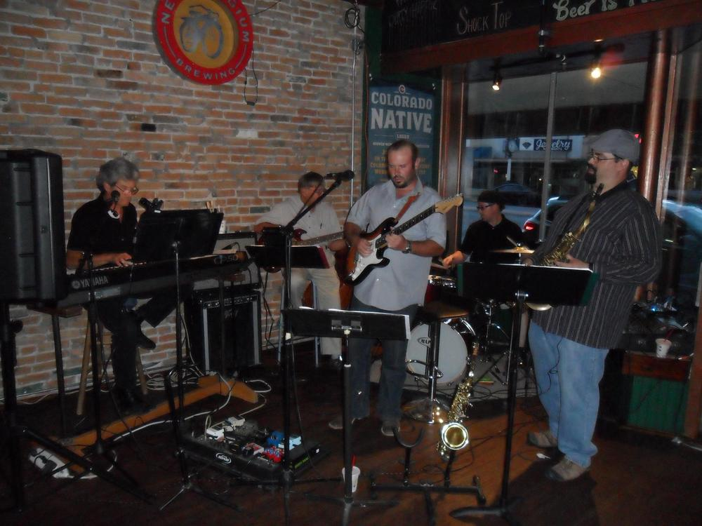 Local musical act Take 5 provided an evening of jazz and blues standards (August 24, 2012).