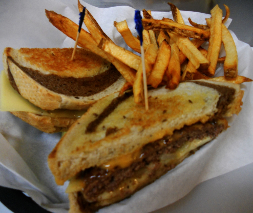 One of our mouth watering patty melts.