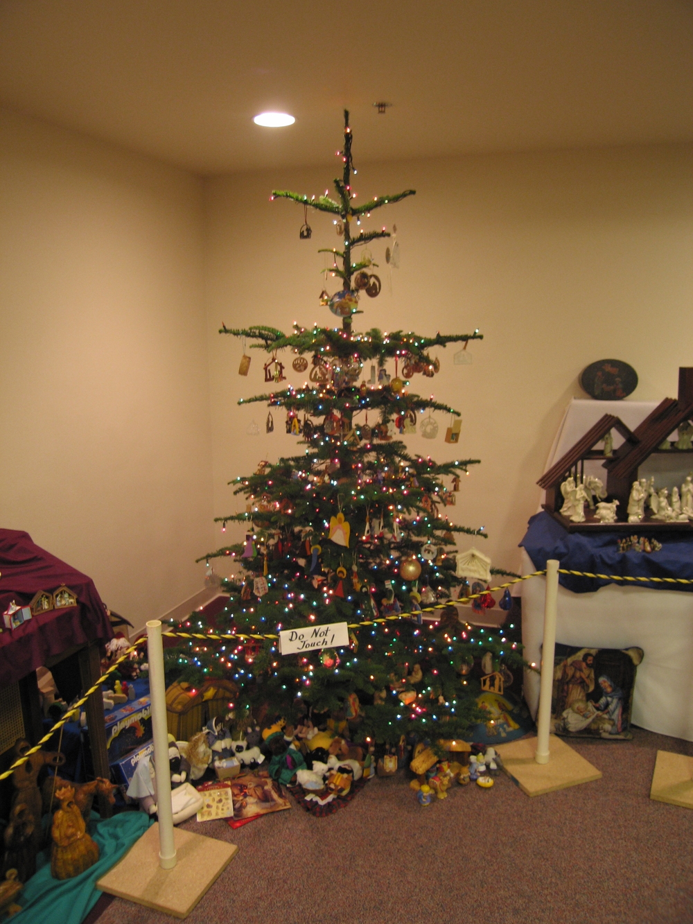 Tree filled with Nativity Ornaments