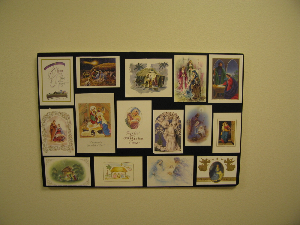 Displayed Christmas Cards