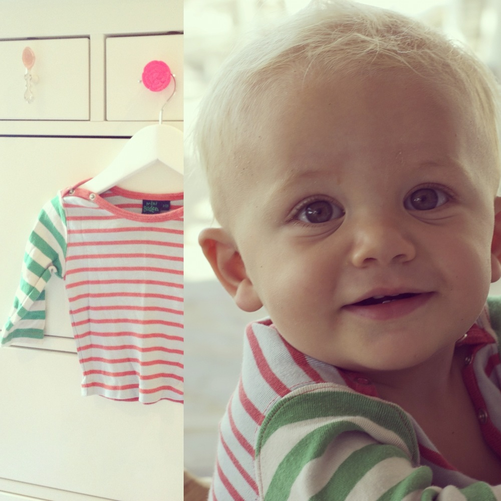 this little  Boden  top was always one of my faves on Pablo... happy to see it back in action but HOW did he grow so fast?