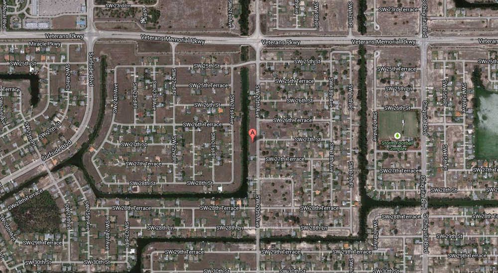 PHOTO:  Satellite map showing the approximate location of the crash.  (Photo Courtesy of Google)