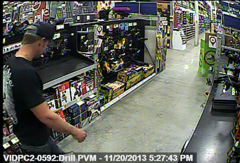 "PHOTO:  Pictured here is our retail theft suspect.  he's described as  30-32 years of age and 5'11"" / 195 lbs.  He was wearing a black ball cap, ""boat"" shoes, dark colored blue jeans, and a black ""Salt Life"" t-shirt with white lettering on the back.  The male had blond hair and was fair-skinned. (Photo Courtesy of Cape Coral Police Department)"