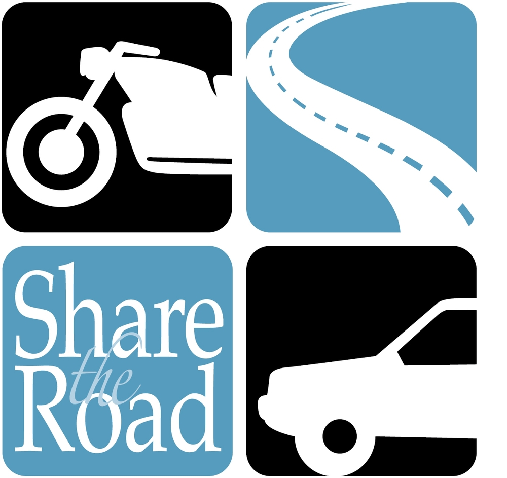 "PHOTO:  Image of the NHtSA ""Share the Road"" Campaign logo.  (Photo Courtesy of Cape Coral Police Department)"