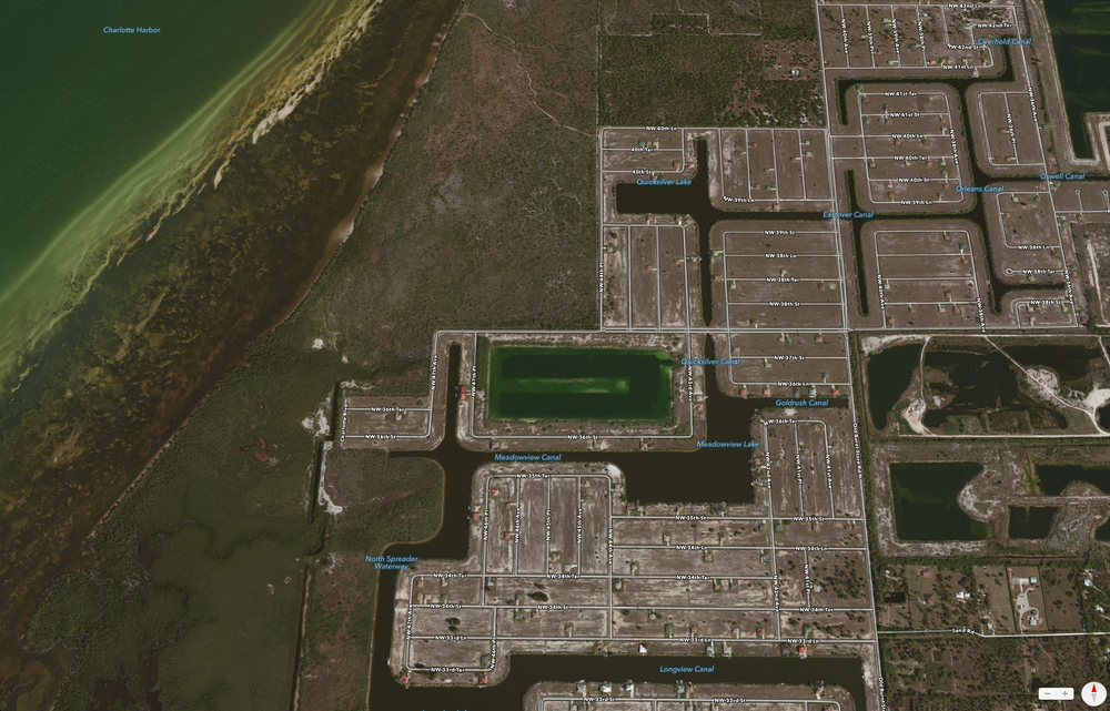 PHOTO:  The City of Cape Coral will host a military training exercise in and around Crystal Lake.  Aerial photo of the affected area..  (Photo Courtesy of  Apple )