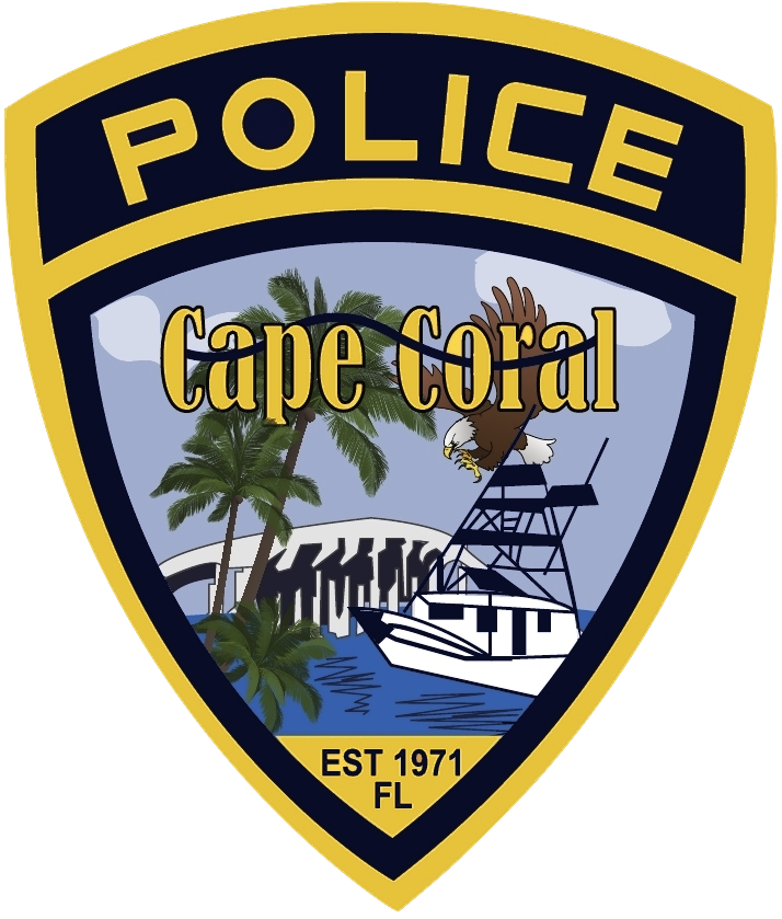PHOTO:  Cape Coral Police Department shield.  (Photo Courtesy of Cape Coral Police Department)