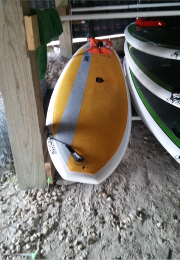 PHOTO:  A stand-up paddle board similar to this one was stolen.  (Photo Courtesy of Cape Coral Police Department)