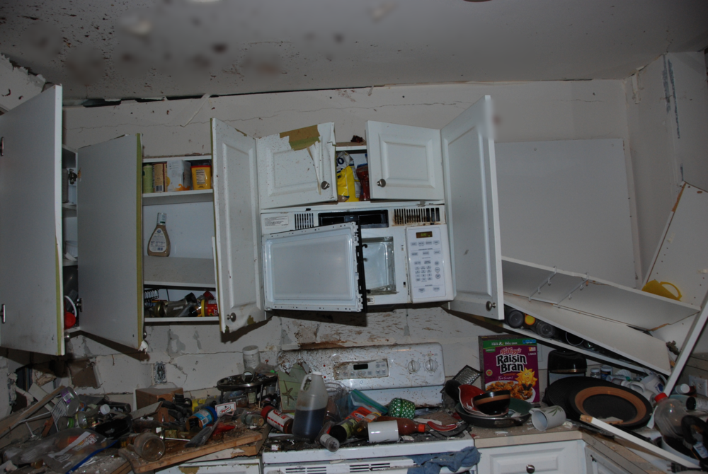 Explosive Damage in Kitchen 1