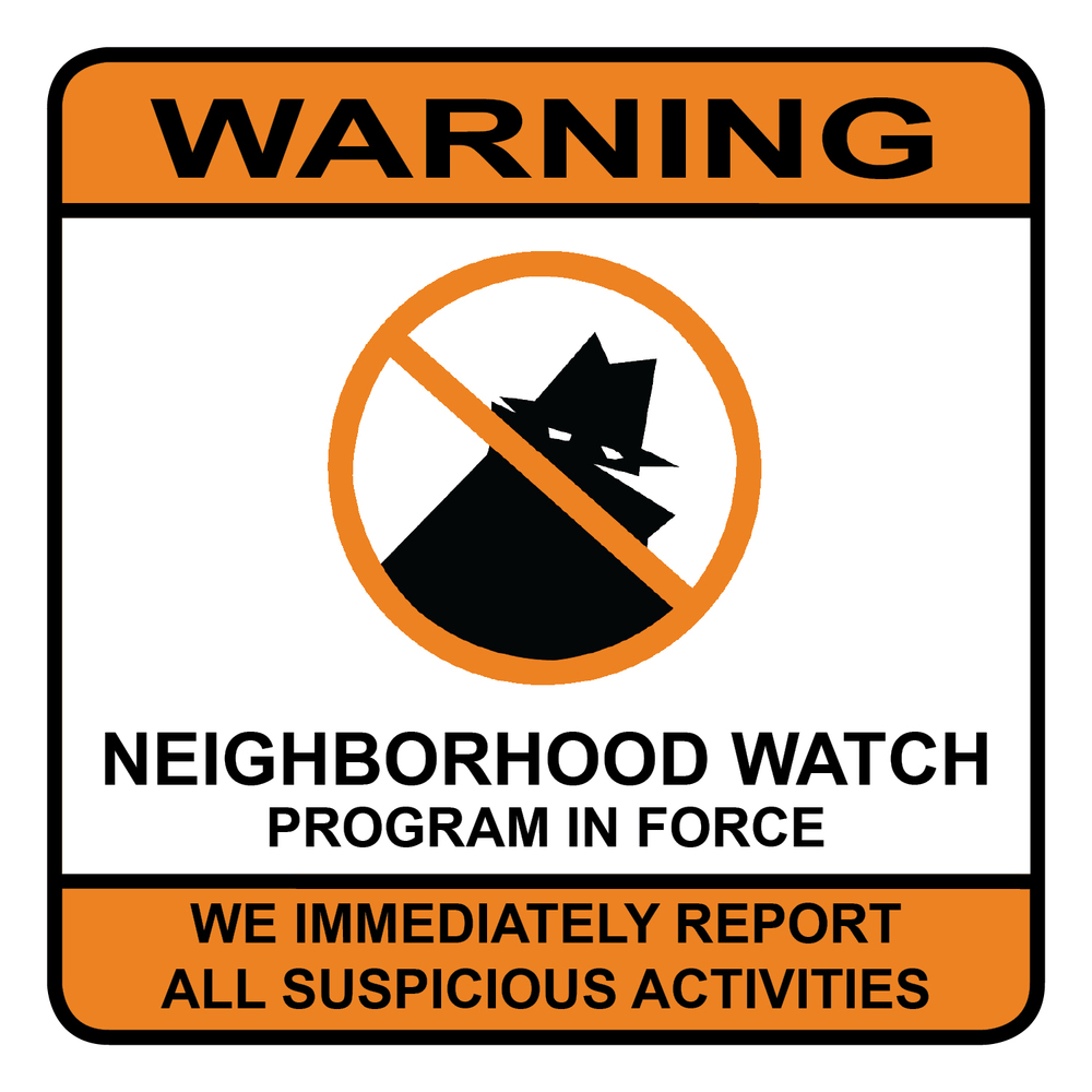 PHOTO:  Neighborhood Watch sign.  (Photo Courtesy of Cape Coral Police Department)