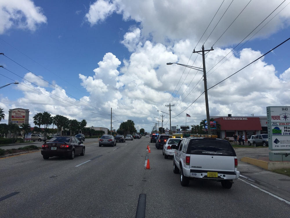 PHOTO:  A death investigation on the side of the road in the 1400 block of Del Prado Boulevard S.  (Photo Courtesy of Sgt, Jon Kulko, Cape Coral Police Department)
