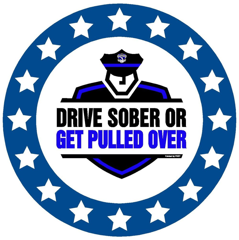 "PHOTO:  ""Drive Sober or Get Pulled Over"" logo.  (Photo Courtesy of FDOT)"