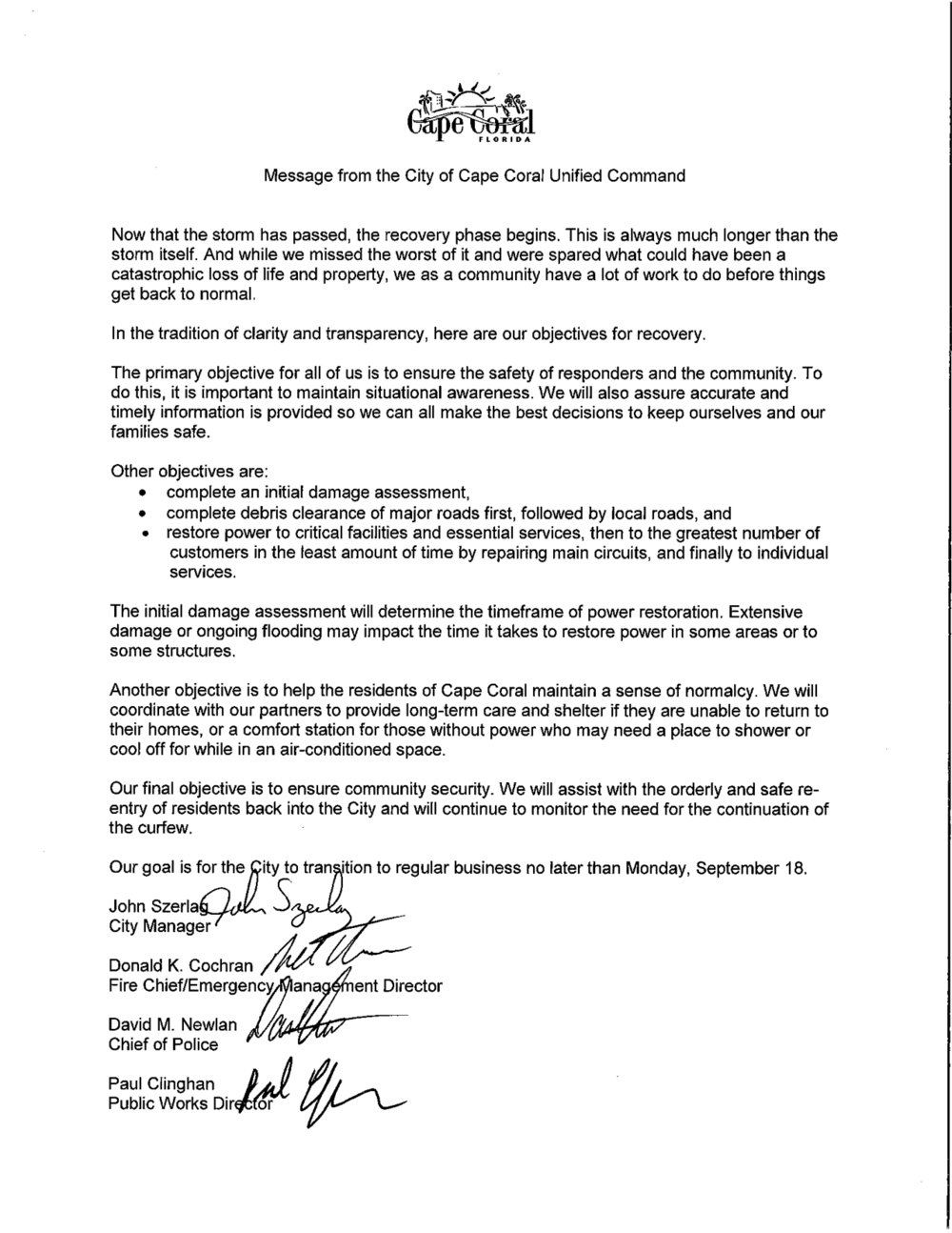Message to the Community from Unified Command.png