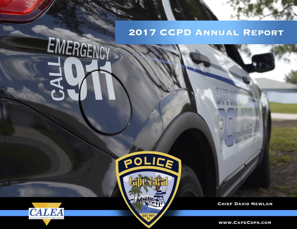 Cape Coral Police Department 2017 Annual Report - The annual report provides a bureau-by-bureau look at the
