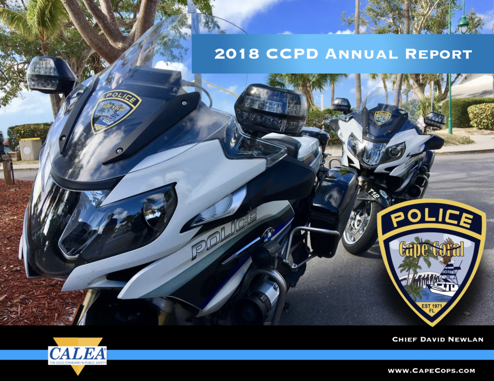 Cape Coral Police Department 2018 Annual Report - The annual report provides a bureau-by-bureau look at the