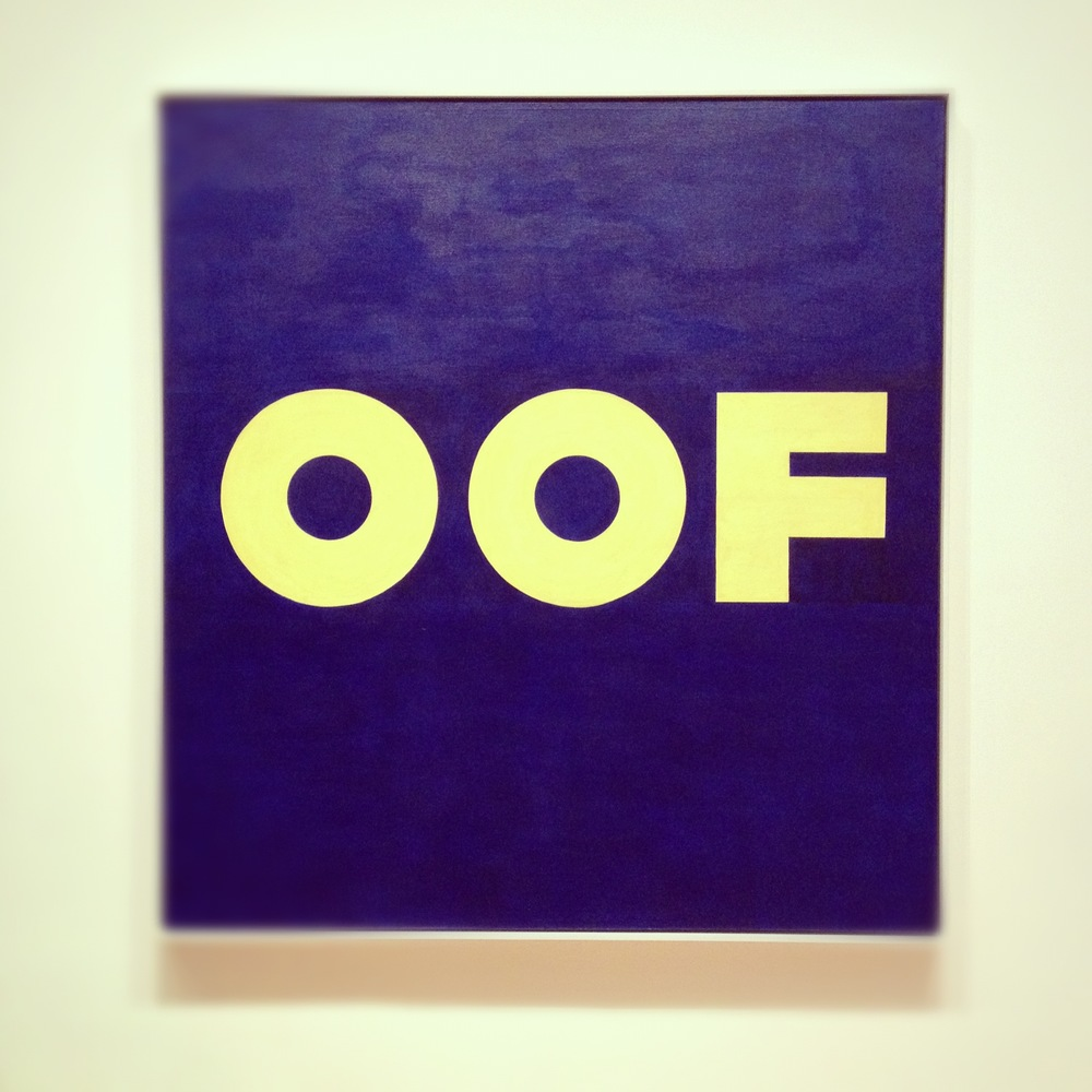 OOF, Ed Ruscha (1962/1963)