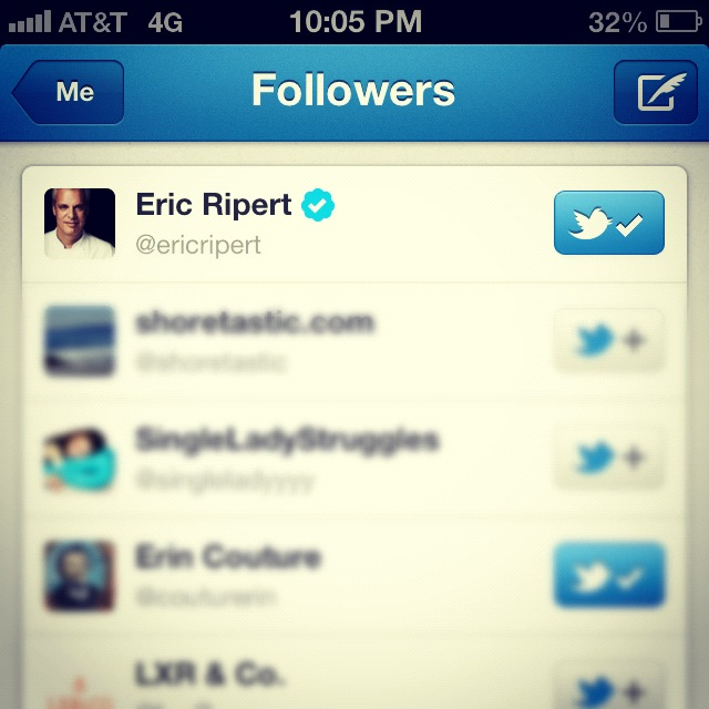 A new Twitter follower for @singlegirldin--swoon!