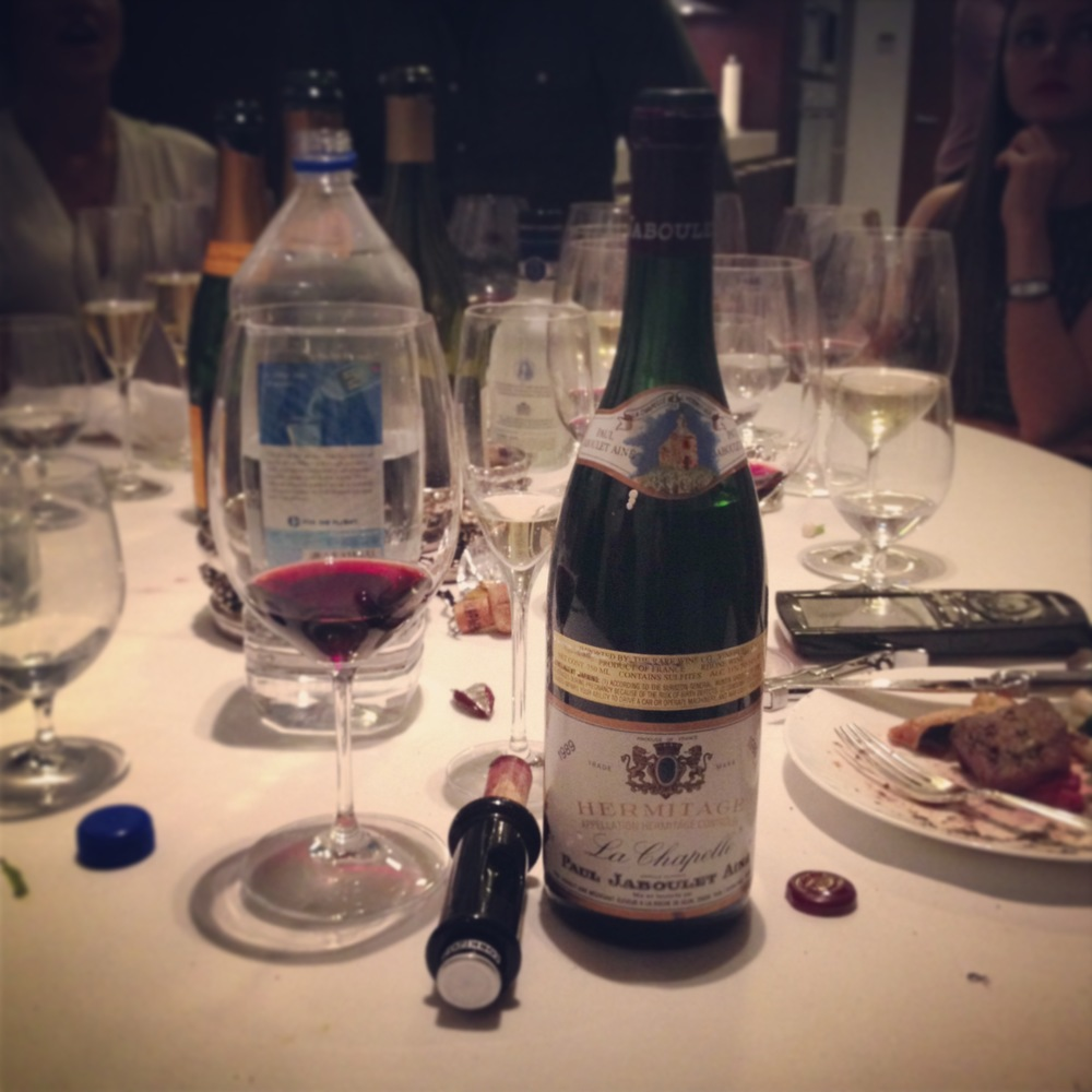 "1989 Jaboulet ""La Chapelle"" Hermitage Wine"