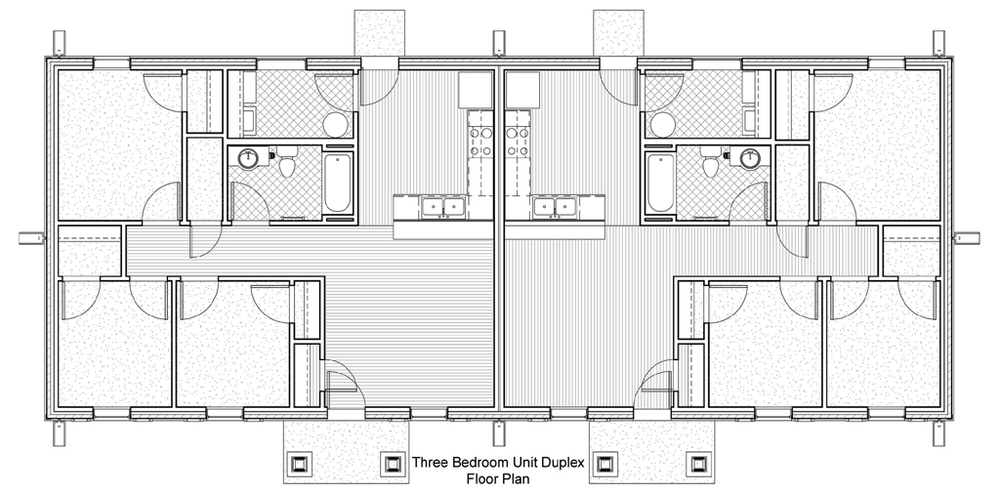 bedroom duplex