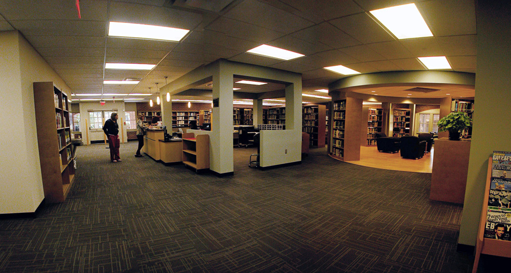 Circulation Desk & Reading Area